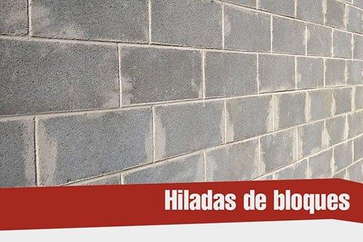 Hiladas de bloques